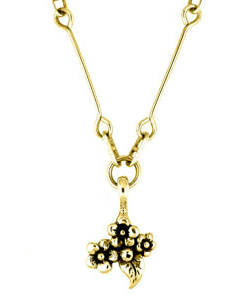 Short Stem Forget-me-not Pendant (18ct Gold)
