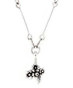 Short Stem Forget-me-not Pendant (Silver)