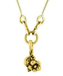 Single Flower Forget-me-not Pendant (18ct Gold)
