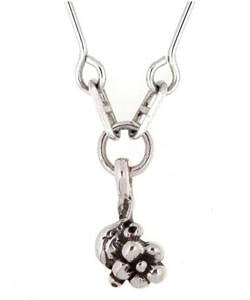 Single Flower Forget-me-not Pendant (Silver)