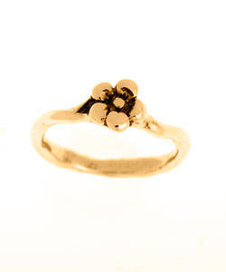 Single Flower Forget-me-not Ring (18ct Rose Gold)