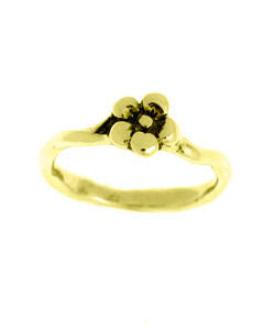 Single Flower Forget-me-not Ring (18ct Gold)