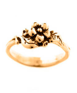 Single Flower Spring Blossom Ring (18ct Rose Gold)