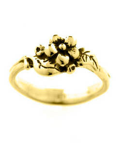 Single Flower Spring Blossom Ring (18ct Gold)