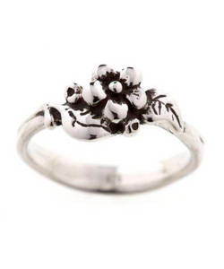 Single Flower Spring Blossom Ring (Silver)