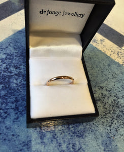 Slim wedding band (18 carat rose gold)