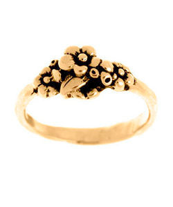 Small Cluster Forget-me-not Ring (18ct Rose Gold)