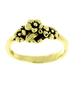 Small Cluster Forget-me-not Ring (18ct Gold)