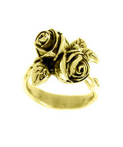 Twin Hobart Rose Ring (18ct Gold)