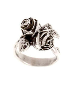 Twin Hobart Rose Ring (Silver)