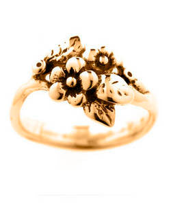 Two Flower Spring Blossom Ring (18ct Rose Gold)