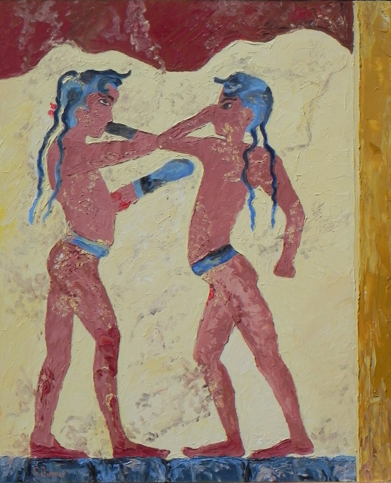Fresco Ancient Greek Boxing
