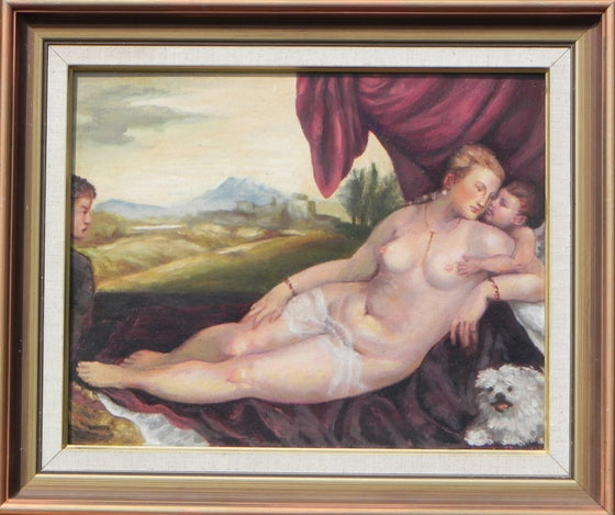 Venus with Organ Player (Old Master Study)