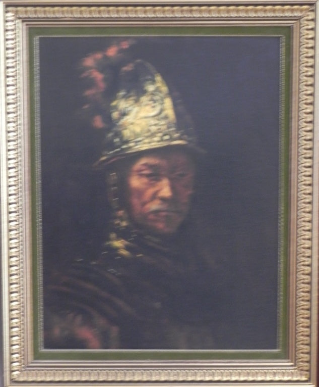 Rembrandt Study of Man with Golden Helmet