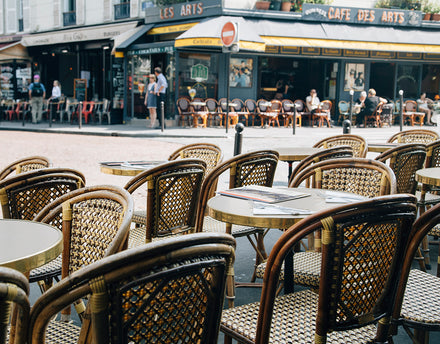 A Parisian cafe where memoirist Hemingway would have walked