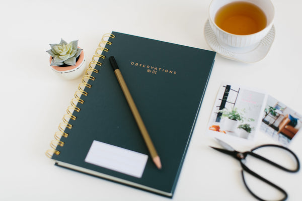 Notebook with pencil for the writer's life