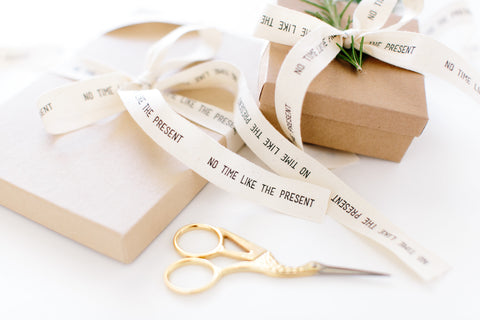 Small wrapped box representing the gift of memoir writing