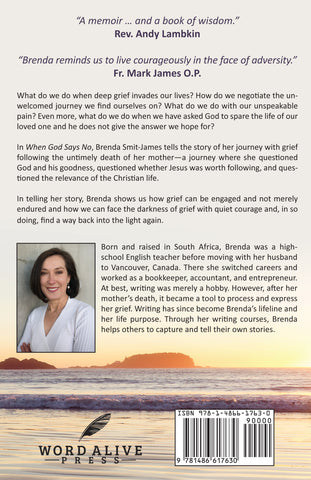 Back cover of memoir by Brenda Smit-James
