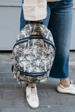 Pattern Sotogrande Blue Canvas Backpack Large by Zubi