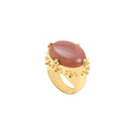 Alba XL ring with pink moonstone