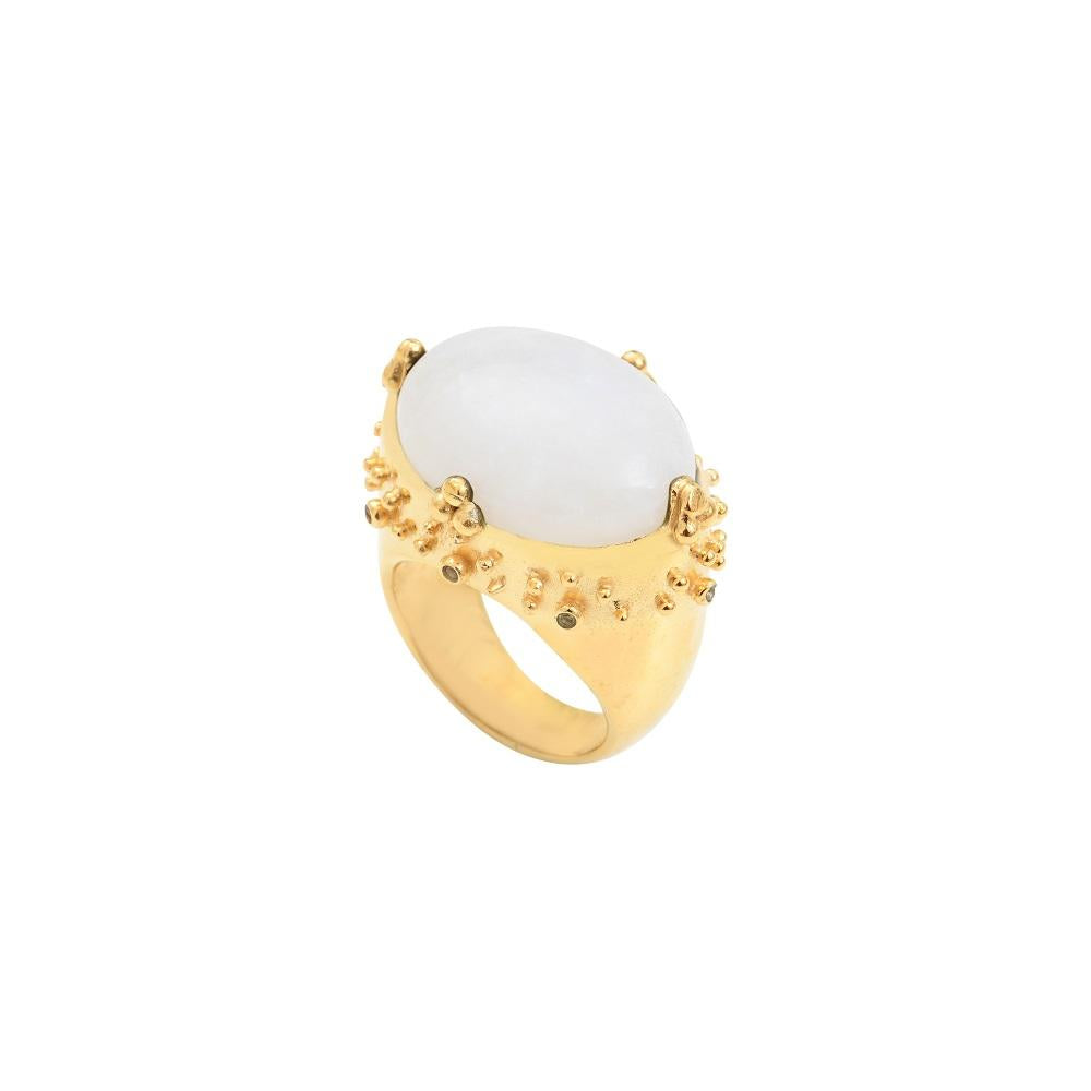 Alba XL ring with moonstone