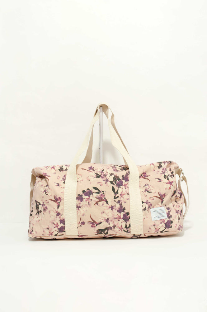 Canvas Travel Bag M « Cherry pink »