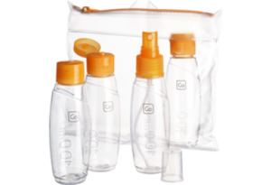 Go Cabin Bottle Set Orange Travel Accessories