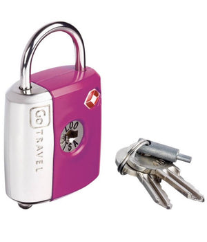 Go Tsa Dual Function Lock 337 Pink Travel Accessories