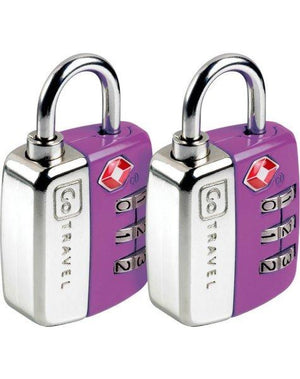 Go Tsa Twin Pack Combination Lock Pink Travel Accessories