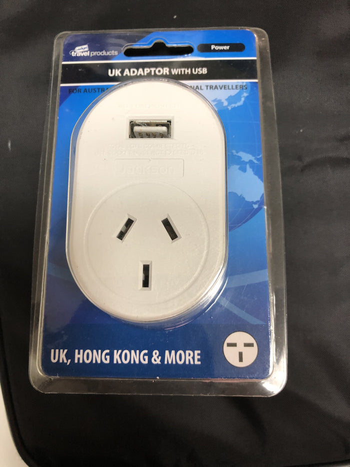 Edge Travel Products AU/NZ to UK Adaptor + USB