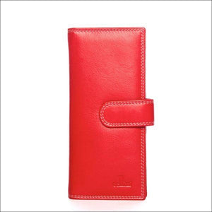 Cellini Paris Rfid Long Wallet Red Purse