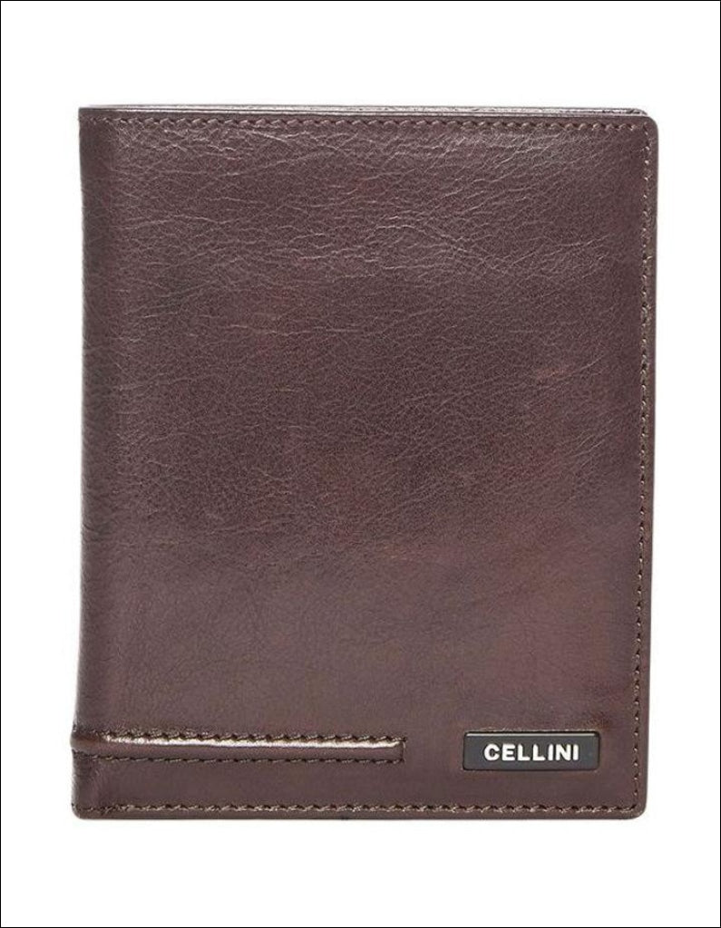 Cellini Viper Stitch Blazer Wallet Brown Leather