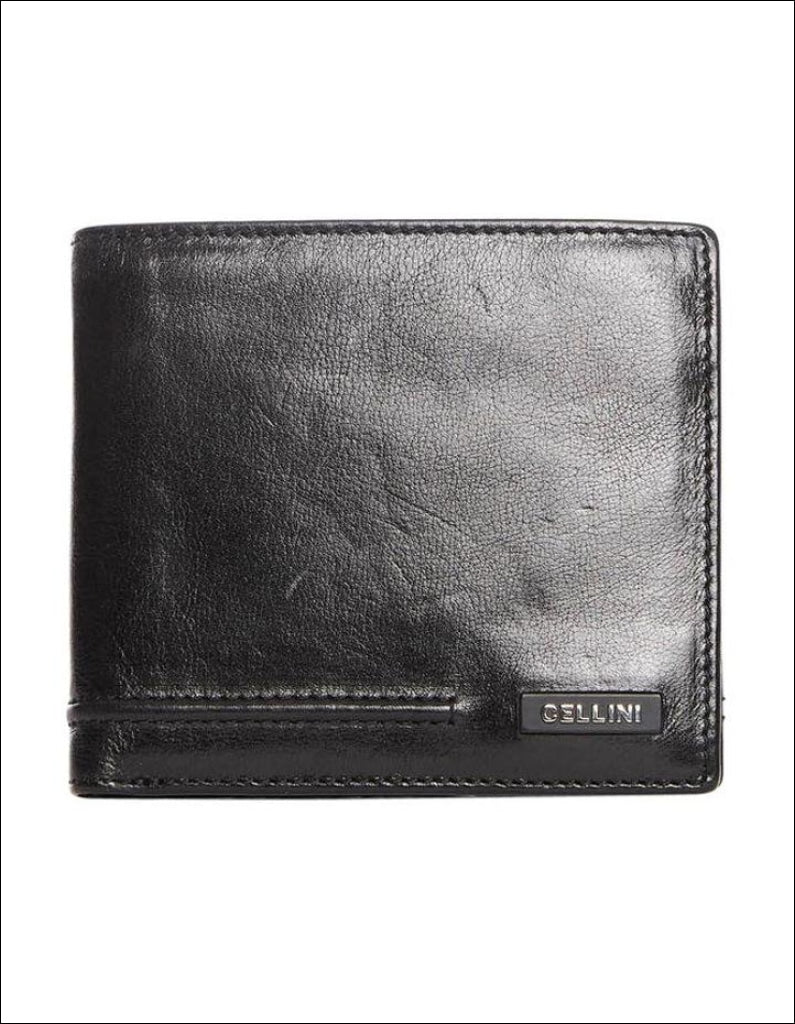 Cellini Viper Tri Flap Wallet Black Leather