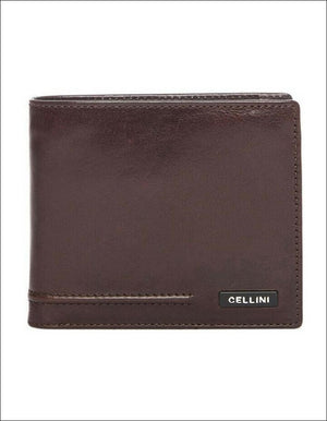 Cellini Viper Tri Flap Wallet Brown Leather