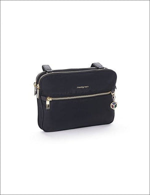 Hedgren Attraction 2 Compartment Crossover Bag Black Ladies Shoulder