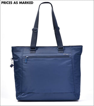 Hedgren Elvira Womens Larger Rfid Tote Bag Dress Blue