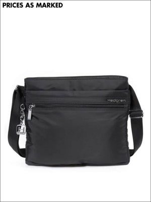 Hedgren Fola Slim Shoulder Bag Rfid Black Lightweight Travel