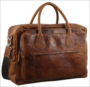 Pierre Cardin Leather Overnight Business Bag
