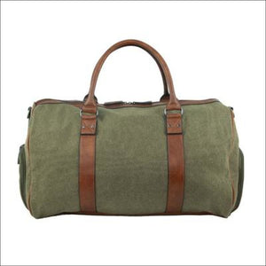 Pierre Cardin Unisex Canvas Overnight Bag-Brown Bag