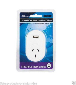 Edge Travel Products Au/nz To Sth Africa Adaptor + Usb Accessories