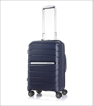 Samsonite New Octolite 2.0 55Cm Small Expandable 4 Wheel Hard Suitcase Navy Cabin Friendly