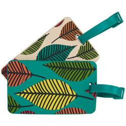 Travelon Set Of 2 Patterned Luggage Tags Leaves
