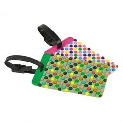 Travelon Set Of 2 Patterned Luggage Tags Dots