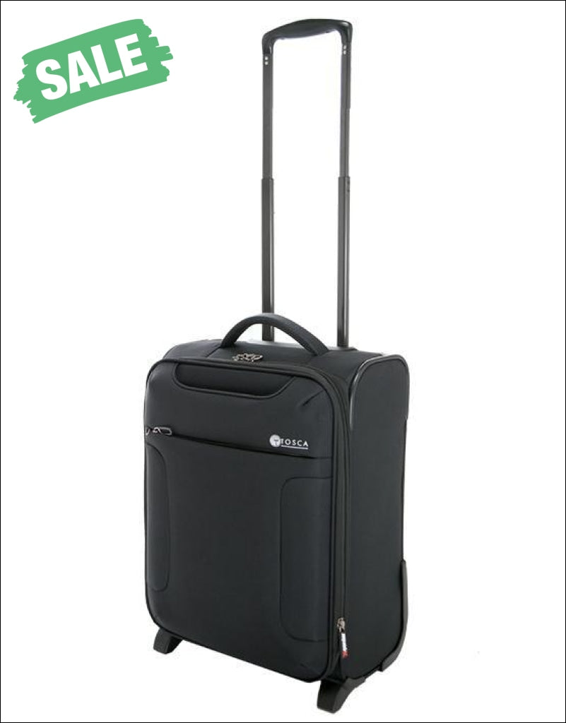 Tosca - So Lite 3.0 18In Small 2 Wheel Soft Suitcase Black Carryon Luggage