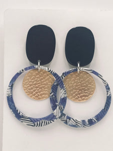 Trendy and Fun - Blue Zebra Hoops
