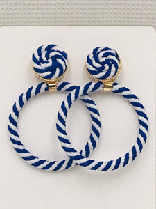 Trendy and Fun Cord Wrapped Hoops
