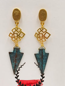 Modern Gold and Verdigris Arrow