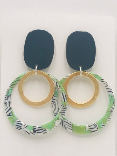 Trendy and Fun - Green Zebra Hoops