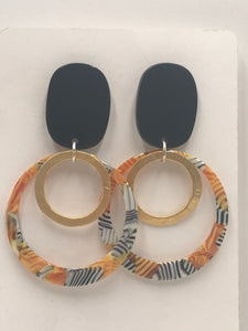 Trendy and Fun - Orange Zebra Hoops