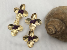Load image into Gallery viewer, Flower-On -Flower Amethyst and Gold